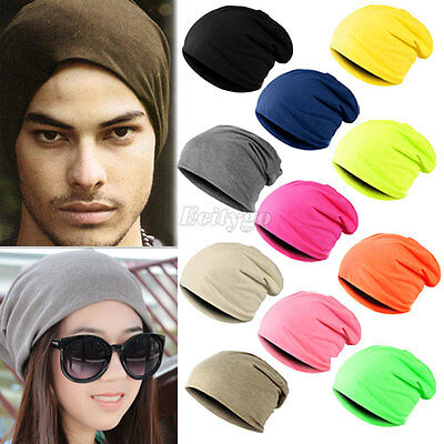New Unisex Women Mens Knitted Knit Winter Warm Ski Crochet Slouch Hat Cap Beanie