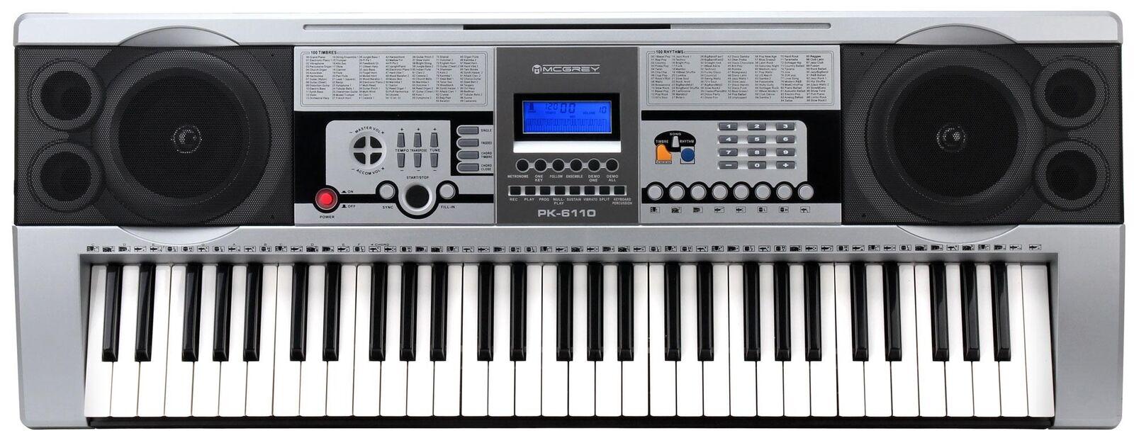 servicio considerado Clase 61 teclas Keyboard con aprendizaje 100 sonidos sonidos sonidos y ritmos pantalla LCD  Los mejores precios y los estilos más frescos.