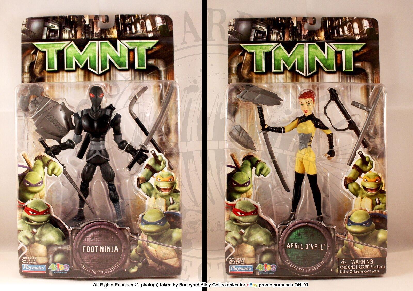 2007 TMNT APRIL O'NEIL & FOOT NINJA MOCNEW- PLAYMATES