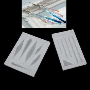 DIY-Pendiente-Collar-Colgante-Molde-Silicona-de-Resina-Epoxi-Herramienta-Joye-ws