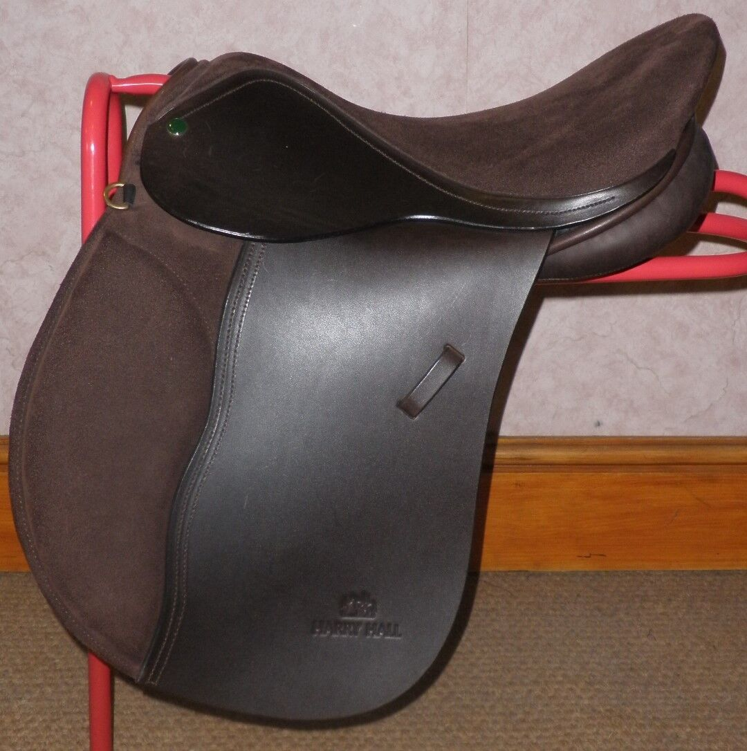Harry Hall Brown Leather Saddle With Suede Seat &  Knee Rolls 17  Wide  new products novelty items