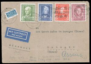 Germany #B310-B313 Cover EUR290 Welfare Dec 20 1949 (CV$130 Stamps)