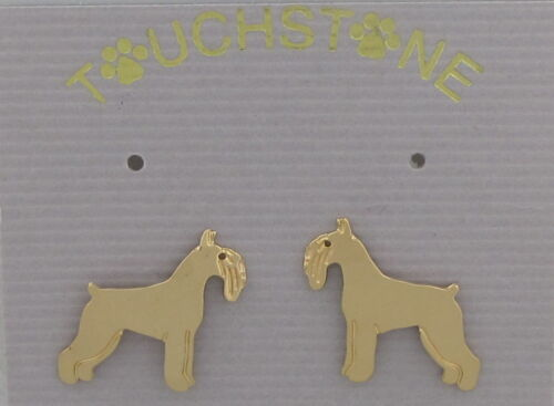 Schnauzer Jewelry Standard Schnauzer Gold Post Earrings