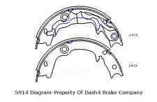 Parking Brake Shoe Set-DASH4 Rear Dash 4 Brake B851