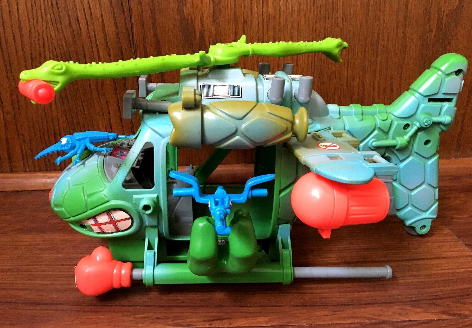 Turtlecopter Vintage TMNT Ninja Turtles Vehicle Playmates Near Complete 1990