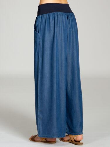 CASPAR KHS046 Damen Sommer Hose Culotte Jeans Jeanshose Haremshose lässig leicht