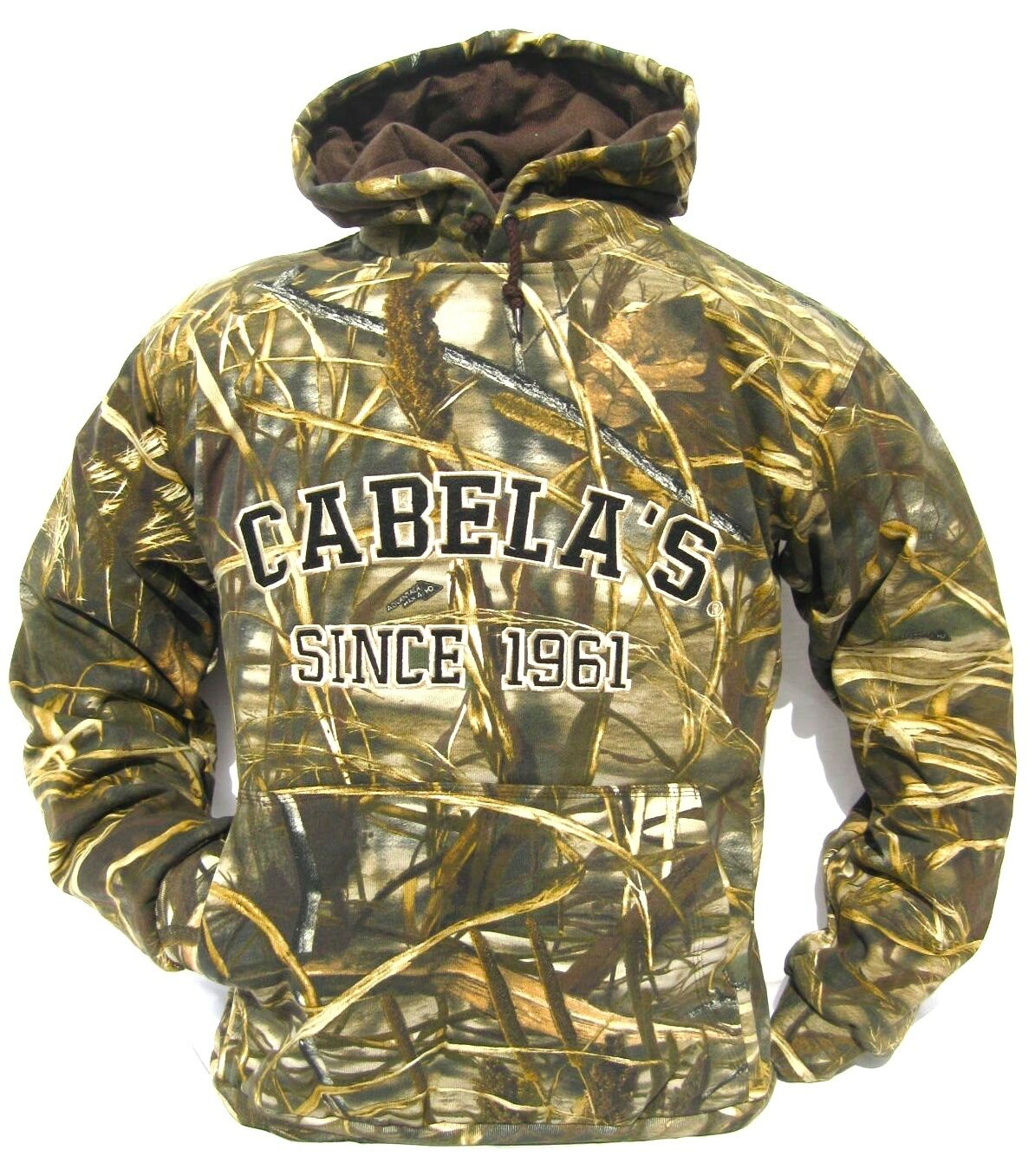Cabela's Men's Heavyweight 420g Mossy Oak RealTree MAX4 Waterfowl SNOW Hoodie
