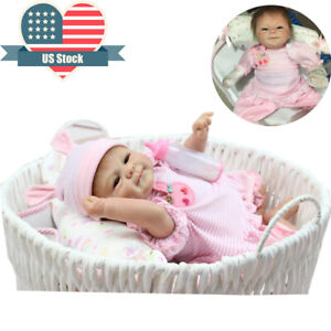 Reborn-Baby-Dolls-Girl-Real-Life-Silicone-Baby-18-034-Reborn-Preemie-Dolls-Handmade