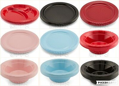 18cm Blue Round Disposable Plastic Plate Party Event BBQ Buffet Great Value!