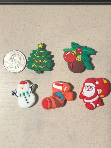 Party Favors Etc~5 Pc Shoe Charms for Crocs Jibbitz Bracelets Christmas Lot C