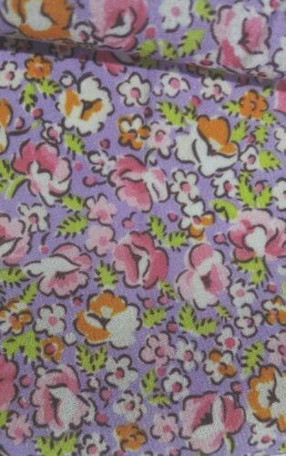 SMALL FLORAL PRINTED CHIFFON FABRIC-SOLD BY THE METER