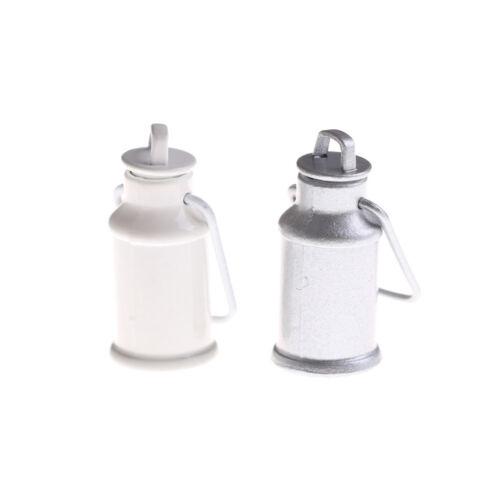 1:12 tarros de leche de Casa de Muñecas en Miniatura Barril Con Tapas Cocina Leche puede Cubo BL