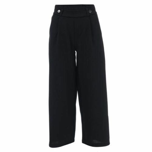 Women/'s Jacqueline de Yong Geggo évasée jambe large Jersey Pantalon Noir