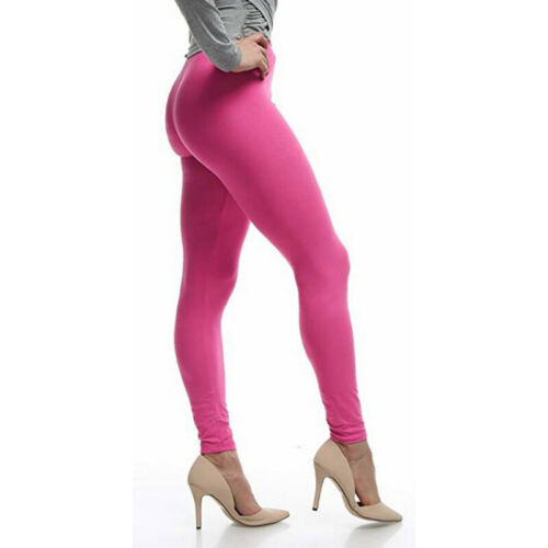 Ladies Trousers Solid Color High Waist Casual Skinny Pants Plus Size Leggings