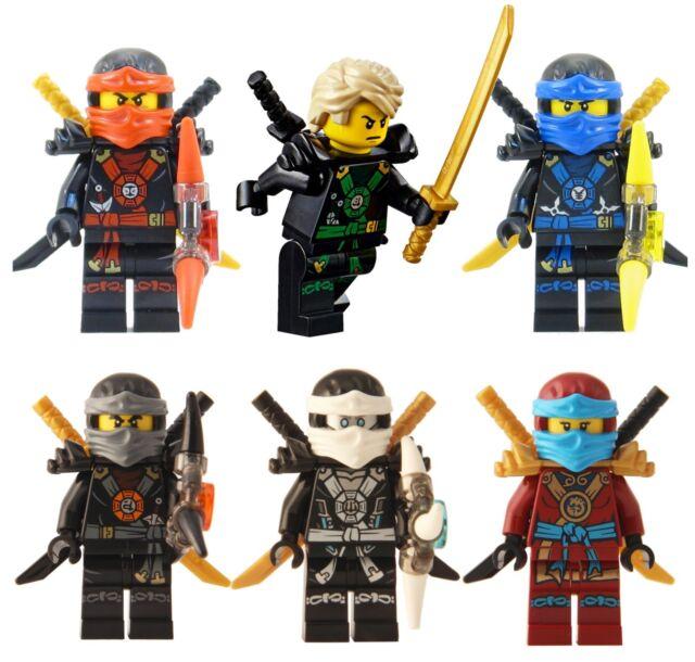 Lego ninjago set of 6 skybound ninjas lloyd nya zane cole jay kai for sale online ebay - Ninjago lloyd and kai ...