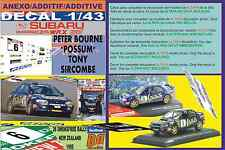 "ANEXO DECAL 1/43 SUBARU IMPREZA 555 P.BOURNE ""POSSUM""R.NEW ZEALAND 1995 7th (03)"