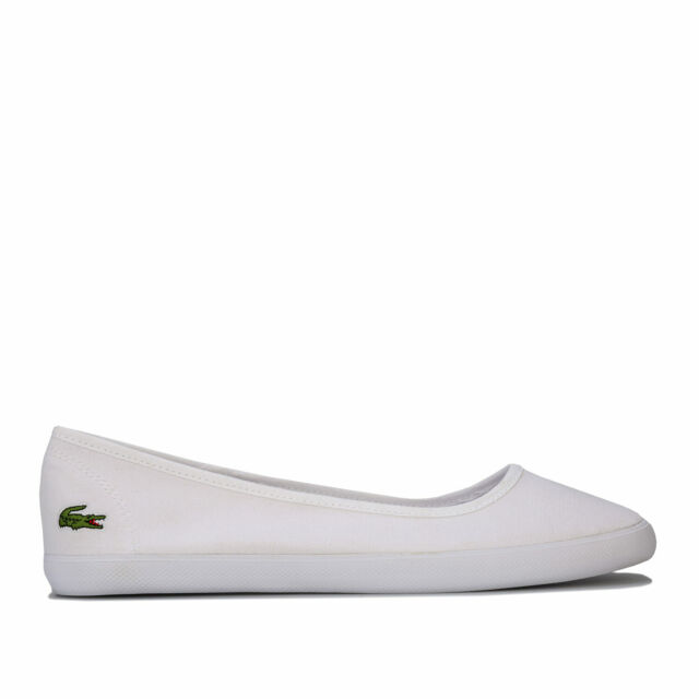 sports shoes genuine shoes performance sportswear Womens Lacoste Marthe Ballerina Pumps In White for sale