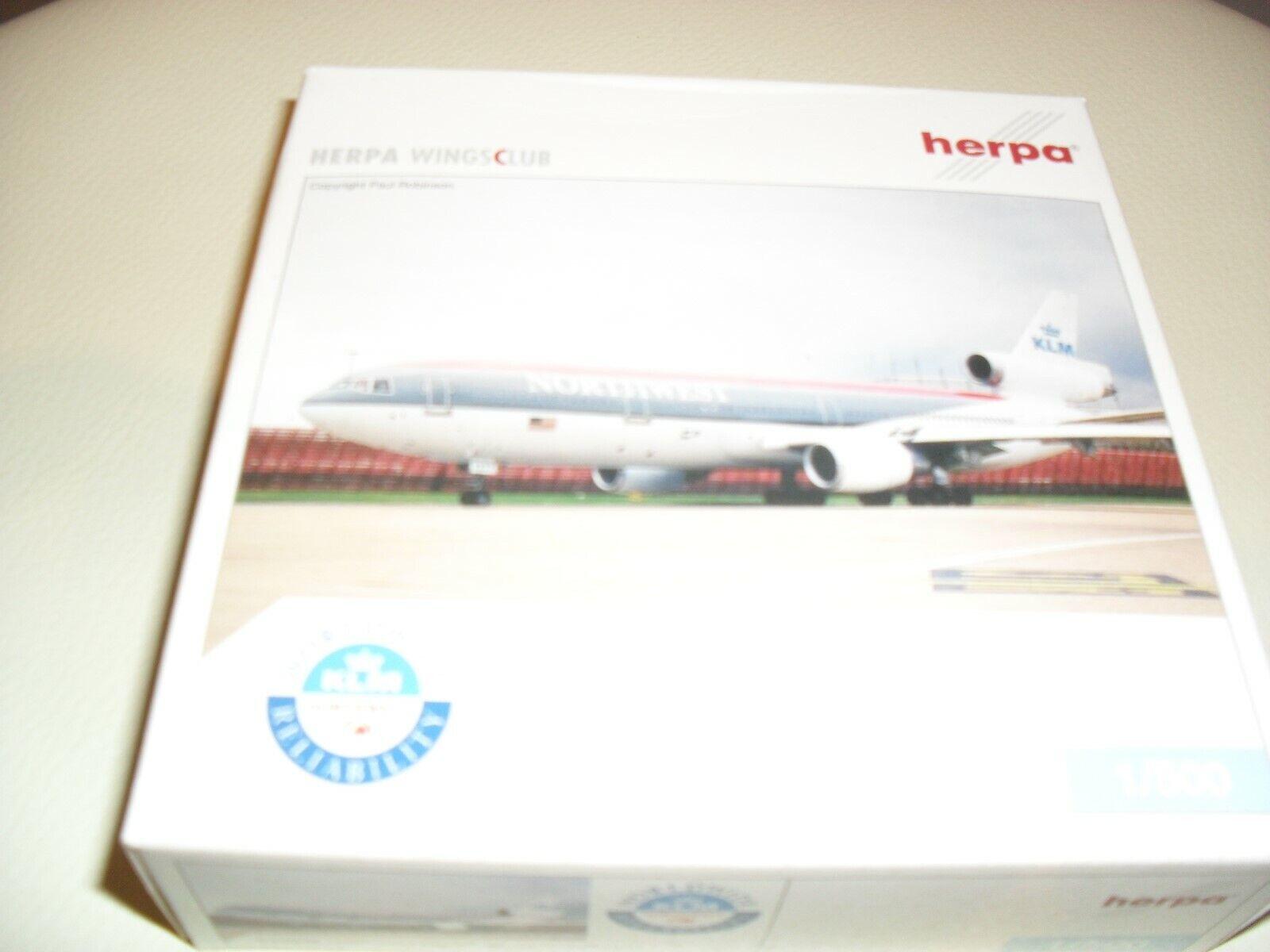 Herpa Wings Club - Douglas DC10-30 - Northwest KLM -1 500 Scale