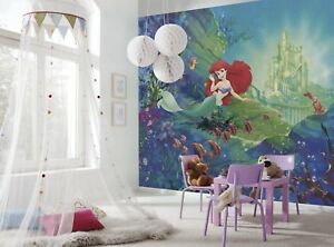 Papier Peint 368x254cm Ariel S Chateau Murale Geante Disney Sirene