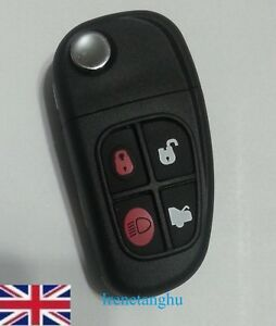 NEW-4-Buttons-Remote-Key-Fob-433MHz-Chip-Transponder-For-Jaguar-X-type-S-type-XJ