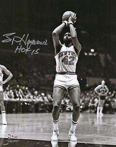 Spencer Haywood NY Knicks Signed 8x10 Shooting Photo w/ HOF 15 Insc - Fanatics