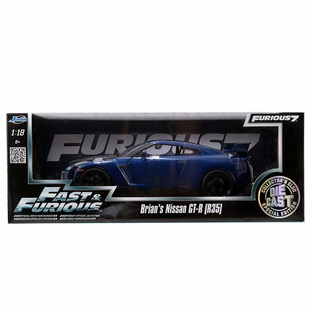 2009 Nissan GT-R GT-R GT-R R35 blau Fast & Furious 7 Brian in 1:18 Jada Toys 97035 58472b