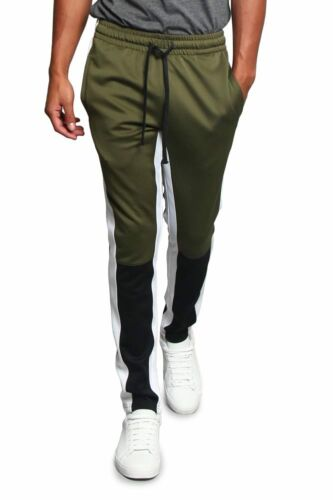 Victorious Men/'s Color Blocked Sports Workout Techno Track Pants TR523 D14H