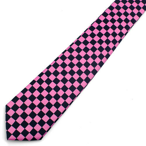 Neck Tie Black And Red CHECKER BOARD Adjustable NeckTie NEW