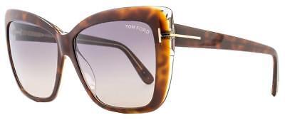 Tom Ford Irina Tf 390 53f Havana Occhiali Da Sole Marrone Gradient Lens 59mm-