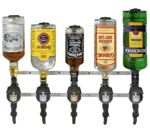 Flaschenhalter 5 Flaschen Spirituosen Wandhalter für Gastro Bar Tresen Theke