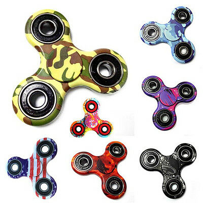3D Fidget Finger Hand Tri-Spinner EDC Steel Bearing Gift Toys Relieve Stress HOT