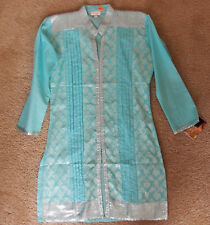 Indian bollywood kurti ethnic top blouse in cotton with long sleeves  for girls