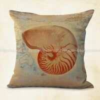 Us Seller, Nautical Seashell Pillow Case Sealife Decor Pillows And Throws