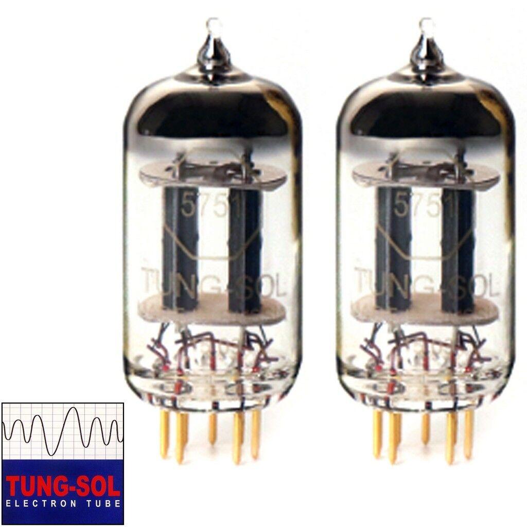 Neu Zugewinn Angepasstes Paar 2 X Tung-Sol Reissue 5751 Gold Pin Vakuum Rohre