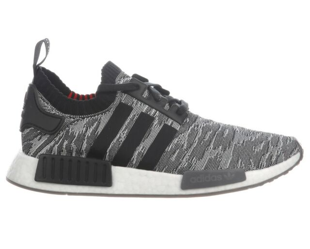 quality design 26aef d6694 Adidas NMD R1 Primeknit Mens CQ2444 Black White Red Boost Running Shoes  Size 12