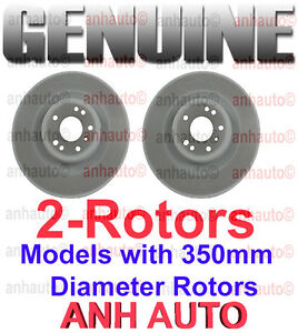 Mercedes Benz Brake Pads And Rotors >> Set of 2 Genuine Mercedes Front Brake Rotors models with 350mm Diameter Disc | eBay
