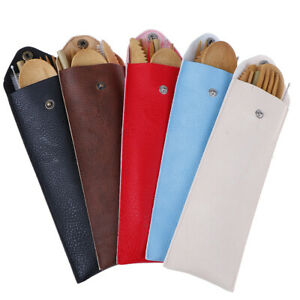6pcs-set-Bamboo-Travel-Utensil-Set-Wooden-Leather-Case-Tableware-Cutlery-Set-EP