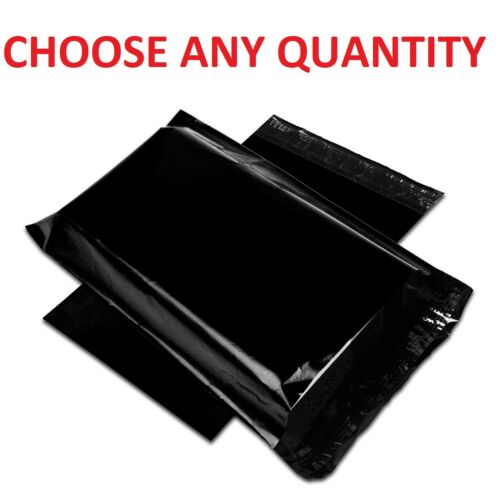Black POLY MAILERS Shipping Envelopes Self Sealing Mailing Bags All Size Polybag