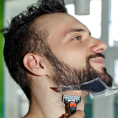 Astounding Gt Men Beard Styling Shaping Template Flexible Trimming Comb Natural Hairstyles Runnerswayorg