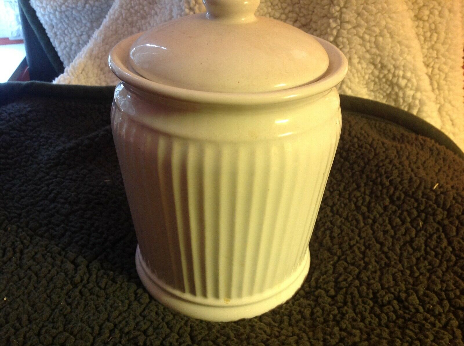 William & Sonoma Elegant White Ceramic Food Container