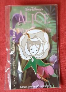 Pin's Pin Disney Alice Wonderland Eleonore Bridge White Rose LE400 d7FzNDar-09091654-433654960