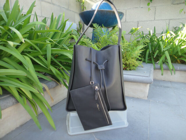 3.1 Phillip Lim Soleil Large Dark Grey Smooth Leather Bucket Bag ... d168bcaa9e729