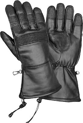 Milwaukee Leather Men's Waterproof Gauntlet Gloves W// Stretch Knuckles **SH294