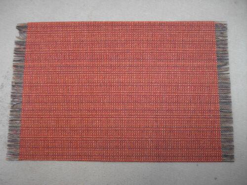 dollhouse Miniature Rug Carpet 5 X 9 fringed Earth-rust color HWR419 E