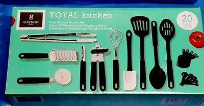 Gibson Home Total Kitchen Prep N Serve Combo Set 20 Pc Ebay