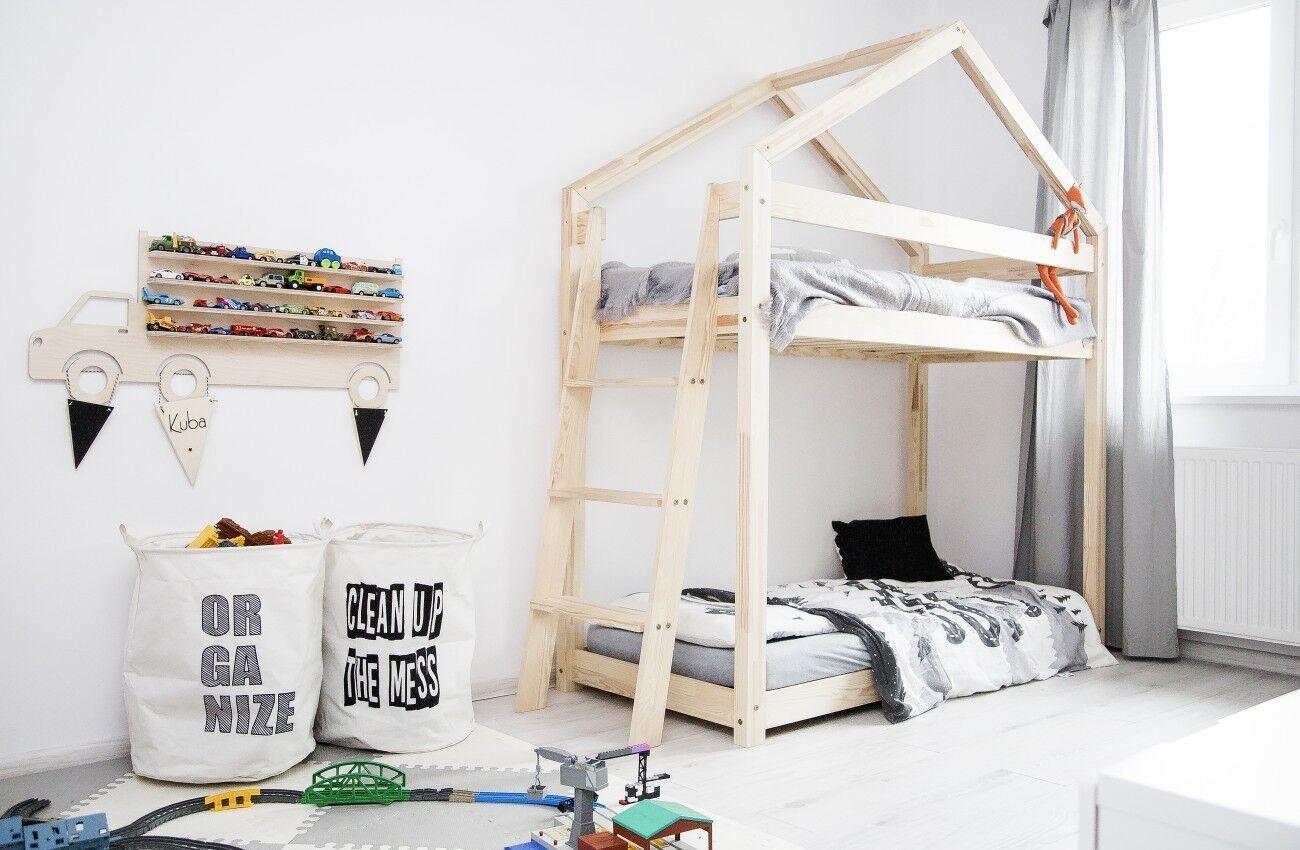 Lit enfant-Maison en bois Lit pour enfants Talo d9 80x200 cm