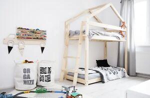 Kinderbett Holzhaus Bett Fur Kinder Talo D9 70x140 Cm Ebay