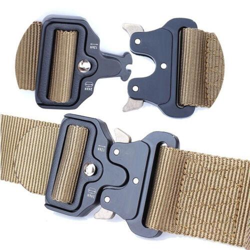 Tactical Belt Military Buckle Belt Automatic Survival Waist Belt Molle Gear