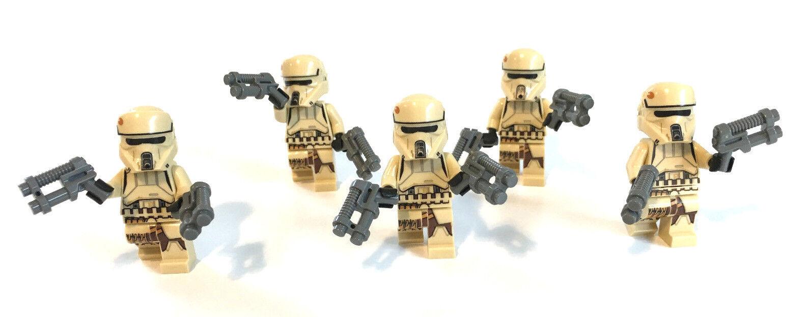 Lego star wars personnage 5x SCARIF un Stormtrooper Shore soldat Rogue 75171 Nouveau unbesp
