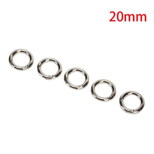 5pcs Camping Hiking O Shape Ring Alloy Buckles Clips Carabiner Round Hooks  l ZS